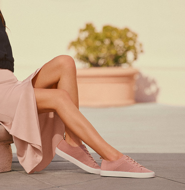 Woman wearing Marc Fisher Summer19 sandals.
