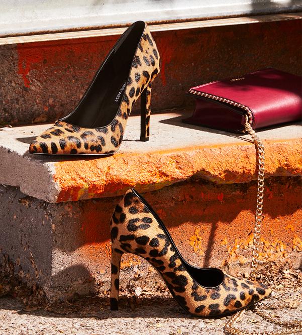 Leopard print Nine West pumps.